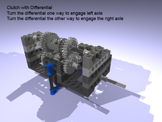 LEGO clutch with differential
