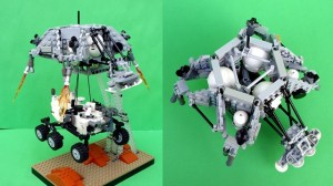 LEGO Mars Curiosity Rover Descent Stage and Sky Crane