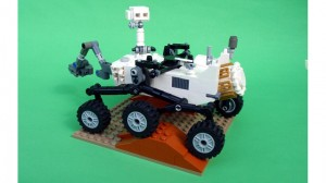 Mars Science Laboratory Curiosity Rover LEGO Model